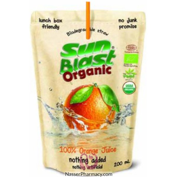 سن بلاست عصير طبيعي 100% بالبرتقال