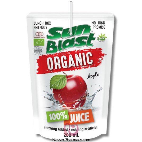 سن بلاست عصير طبيعي 100% بالتفاح