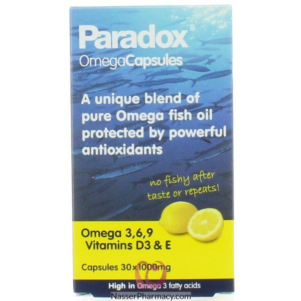 Paradox Omega  3 6 And 9, 1000 Mg, 30 Capsules