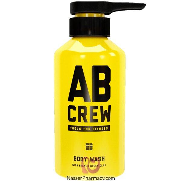 ايه بي كرو Ab Crew غسول الجسم  بالطمي الفرنسي الأخضر 480 ملل