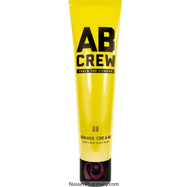 Ab Crew Shave Cream With Liquid Black Rock  120 Ml