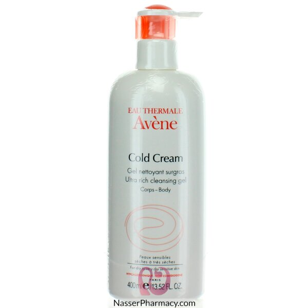 Avene Cold Cream Ultra Rich Cleansing Gel (foaming) 400 Ml