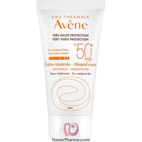 Avene Spf 50+ Sunblock Mineral Cream 50 Ml