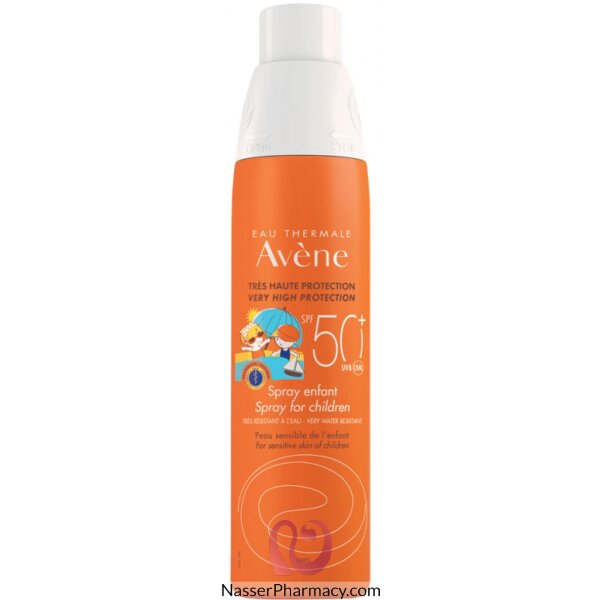 Avene Spf50+ Sunblock For Kids Spray 200 Ml