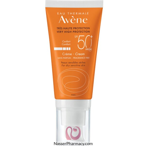 Avene Spf50+ Sunblock Fragrance Free Cream 50 Ml