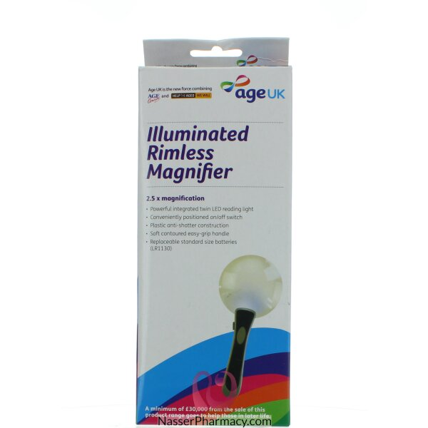 Age Uk Illuminated Rimless Magnifier