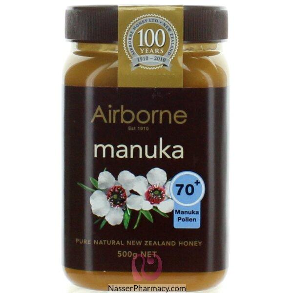 عسل مانوكا  من Airborne  نقاوة 70+  وزن 500غ