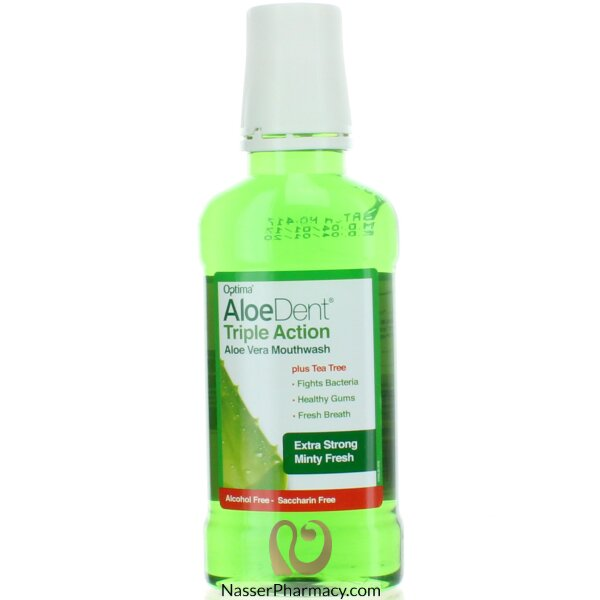 Aloedent - Triple Action Aloe Vera Mouthwash- 250ml