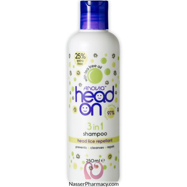 Anovia Head On 3 In 1 Shampoo + 25% 250ml