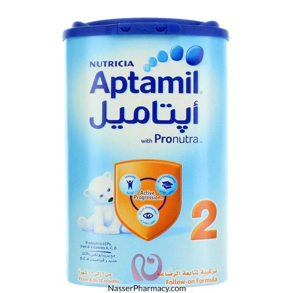 تسوق أونلاين أبتاميل 2 Aptamil حليب أطفال من 6 الى 12 شهر 900 جرام من صيدليات ناصر البحرين