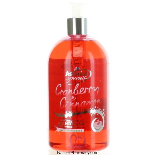 Astonish Cranberry & Cinnamon Antibacterial  Hand-wash 500ml