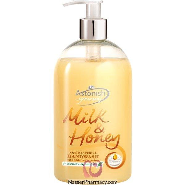 Astonish H/wash Milk & Honey 500ml-38470