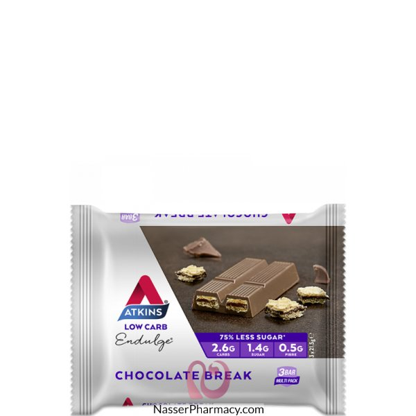Atkins Chocolate Break 3 Bar Pack , 3 X 21.5 Gm