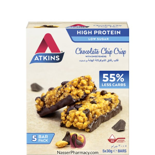 Atkins Chocolate Chip Crisp Pack, 5 Bars