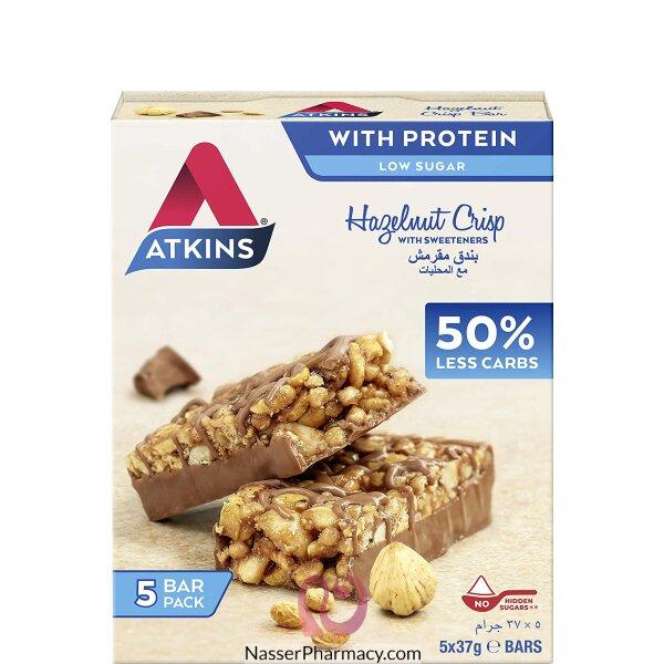 Atkins Chocolate Hazelnut Crisp, Pack Of 5