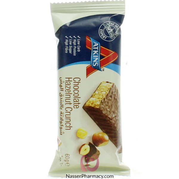 Atkins Chocolate Hazelnut Crunch, 60 Gm