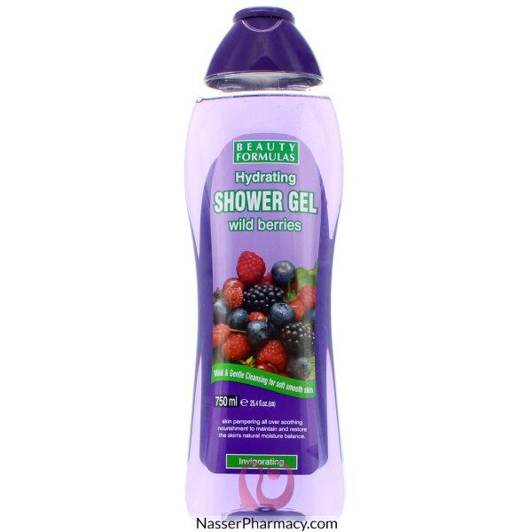 بيوتي فورميولا  Beauty Formulas جل استحمام مرطب بخلاصة التوت البري - 750مل