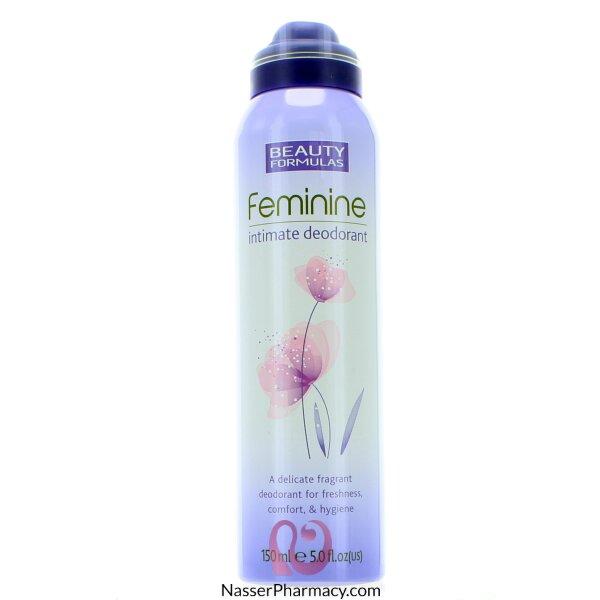 بيوتي فورميولا Beauty Formulas  رذاذ منعش للمنطقة الحساسة - 150مل