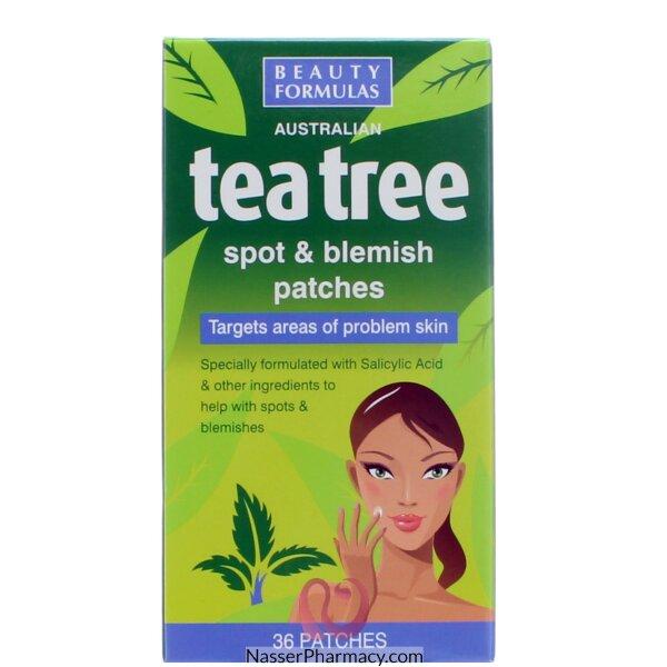 بيوتي فورميولا Beauty Formulas  رقعات لازالة عيوب البشرة و البقع بخلاصة شجرة الشاي - 36رقعة