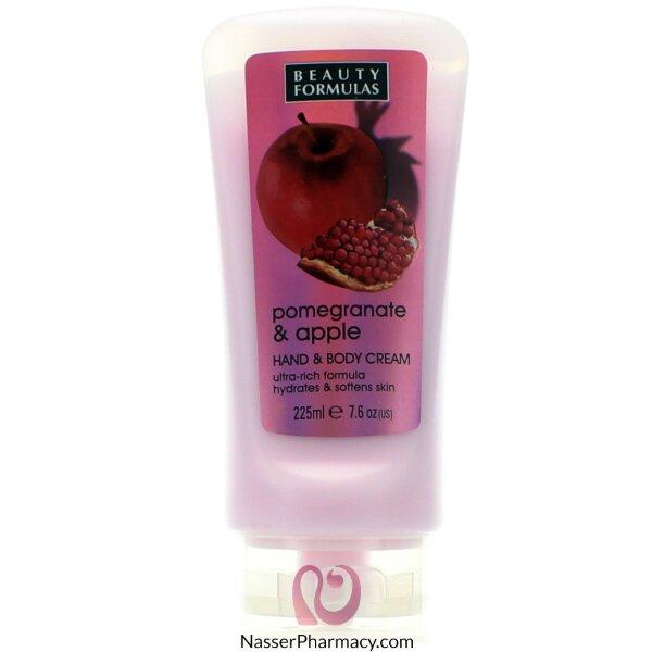بيوتي فورميولا Beauty Formulas  كريم لليدين و الجسم بخلاصة الرمان و التفاح - 225مل