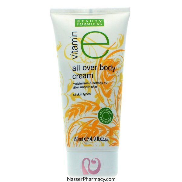Beauty Formulas All Over Body Cream Vitamin E - 150ml