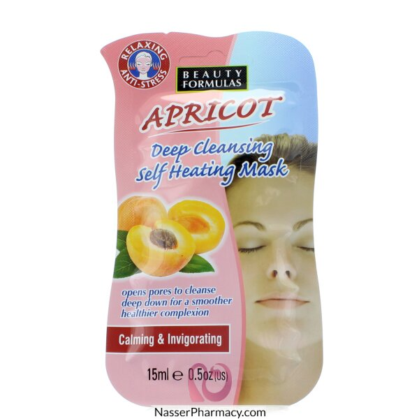 Beauty Formulas Apricot Deep Cleansing Self Heating Mask - 15ml