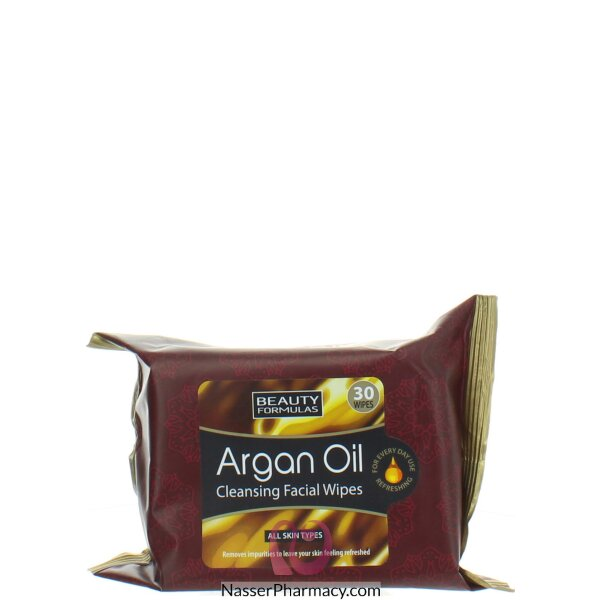 Beauty Formulas Argan Oil Facial Wipes 30's