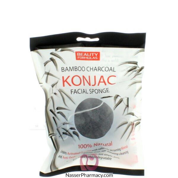 Beauty Formulas Bamboo Charcoal Konjac Sponge