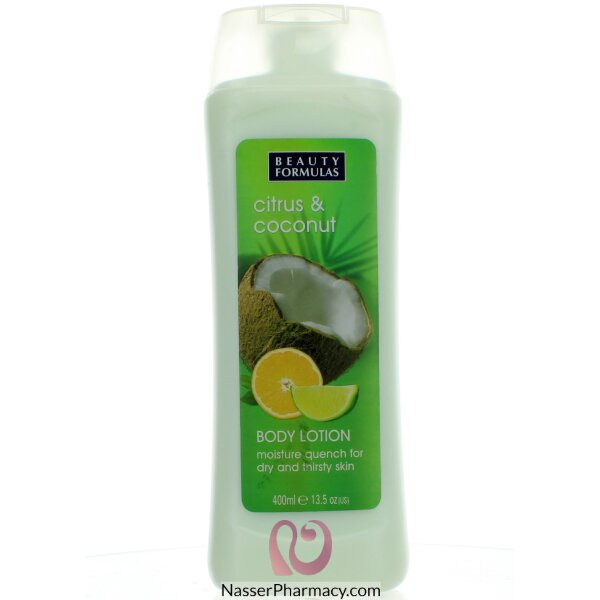 Beauty Formulas Body Lotion Citrus And Coconut 400ml