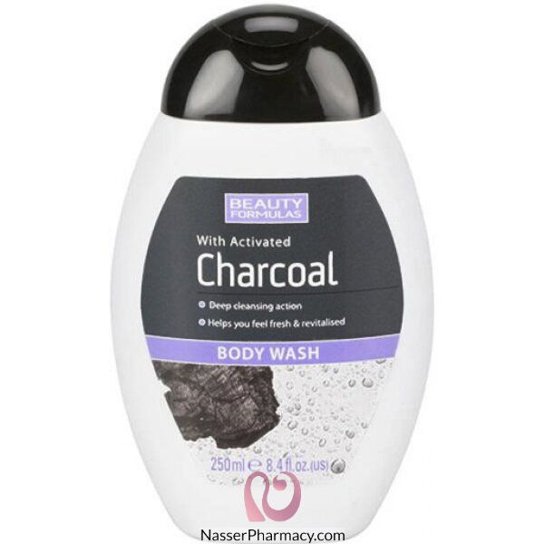Beauty Formulas Charcoal Body Wash 250ml-88588