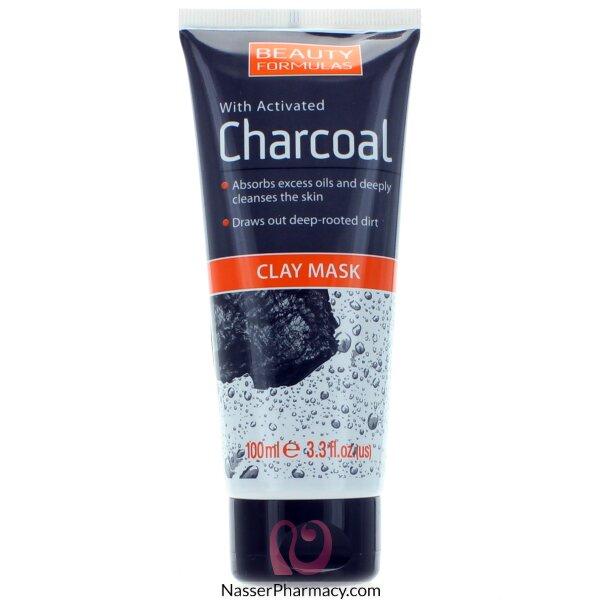 Beauty Formulas Charcoal Clay Mask - 100ml