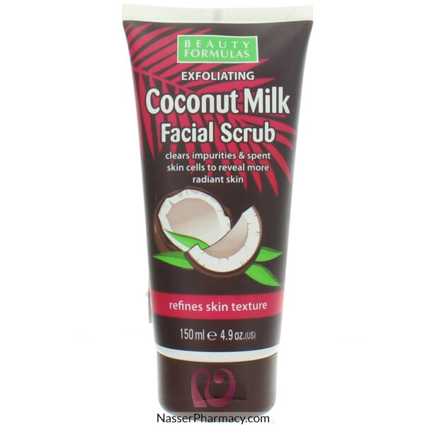 Beauty Formulas Coconut Milk Facial Scrub 150ml