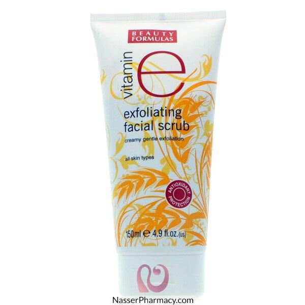 Beauty Formulas Exfoliating Facial Scrub Vitamin E - 150ml