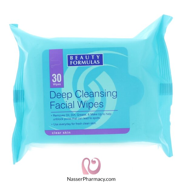Beauty Formulas Facials Wipes Deep Cleansing - 30wipes