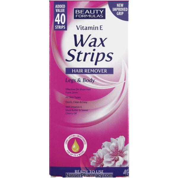 Beauty Formulas Hair Removal Strips - 40strips