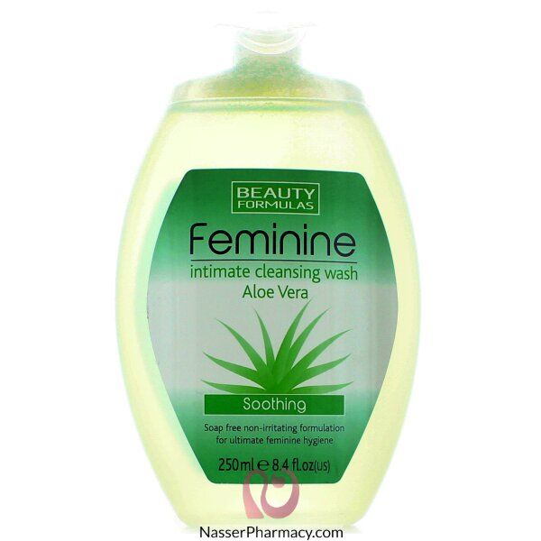 Beauty Formulas Intimate Cleanser Aloevera Wash, 250ml