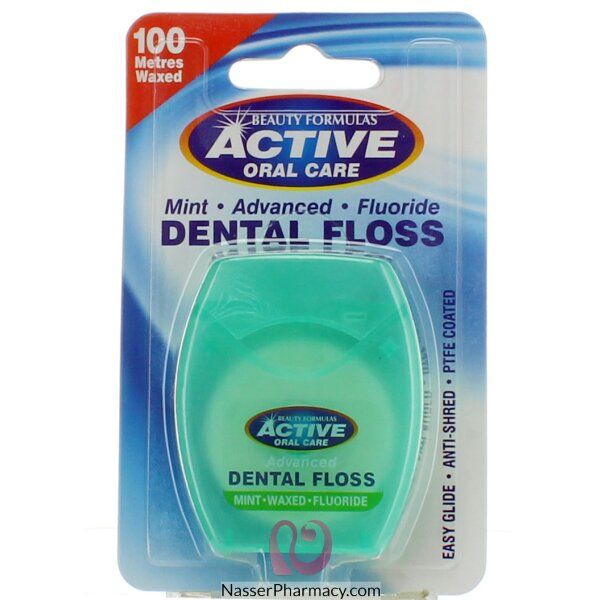 Beauty Formulas - Mint Advanced Fluoride Dental Floss 100metres