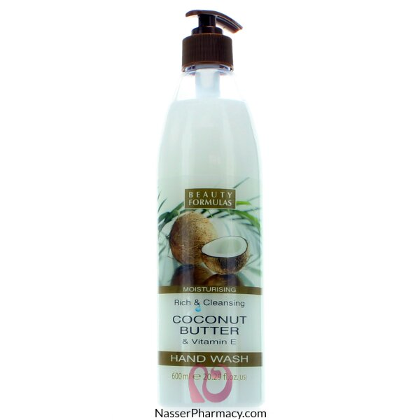 Beauty Formulas Moisturising Rich & Cleansing Coconut Butter & Vitamin E Hand Wash 600ml
