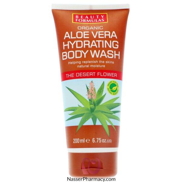 Beauty Formulas Organic Aloe Vera Hydrating Body Wash - 200ml