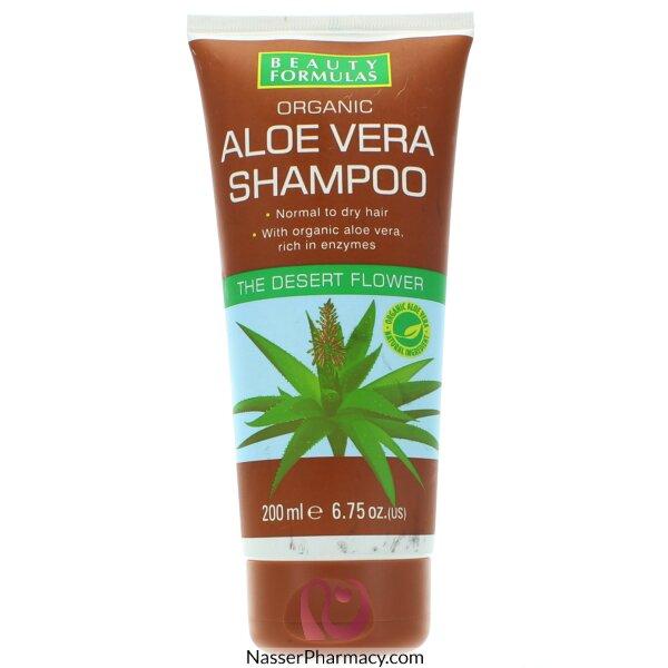Beauty Formulas Organic Aloe Vera Shampoo 200ml