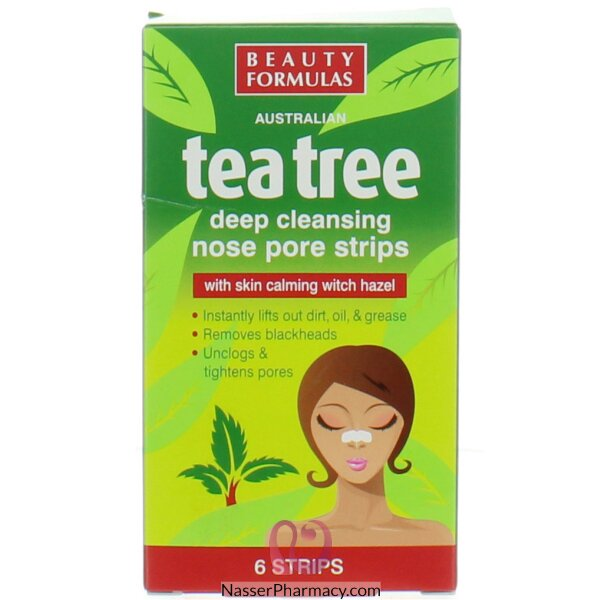 Beauty Formulas Tea Tree Pores Nose Strips - 6 Strips