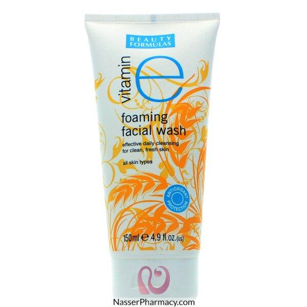 Beauty Formulas Vitamin E Foaming Facial Wash 150ml