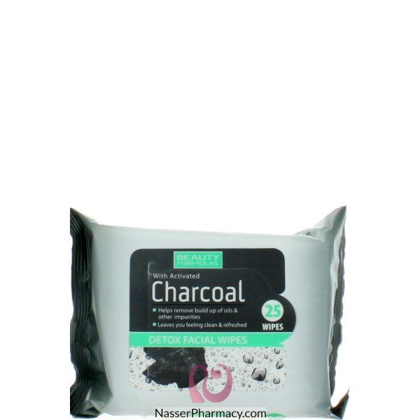 Bf Charcoal Facial Wipes 25&#39s-88579