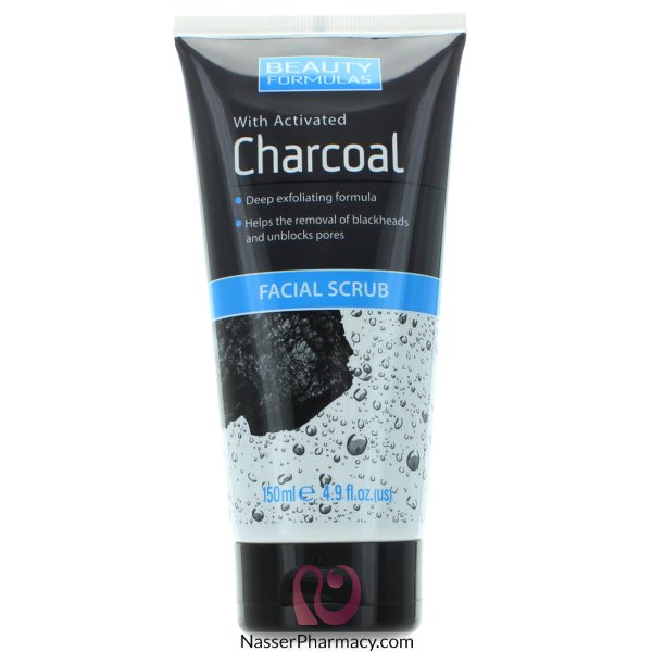 Beauty Formulas Charcoal Facial Scrub - 150ml