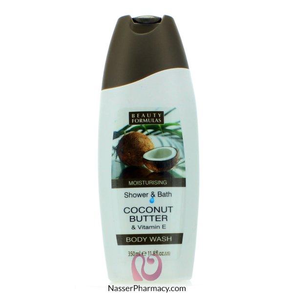 Beauty Formulas Coconut Butter And Vitamin E Body Wash - 350ml