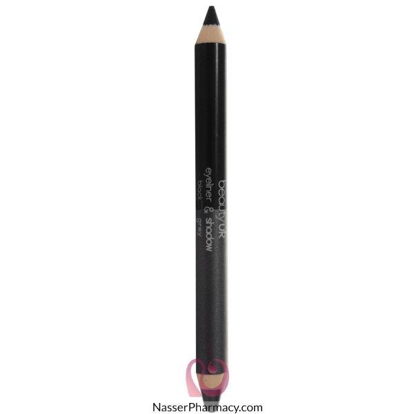 بيوتي يو كيه قلم كحل ثنائي Black / Grey
