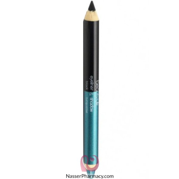 Beauty Uk Double-ended E/pencil - Black/ Turquaise