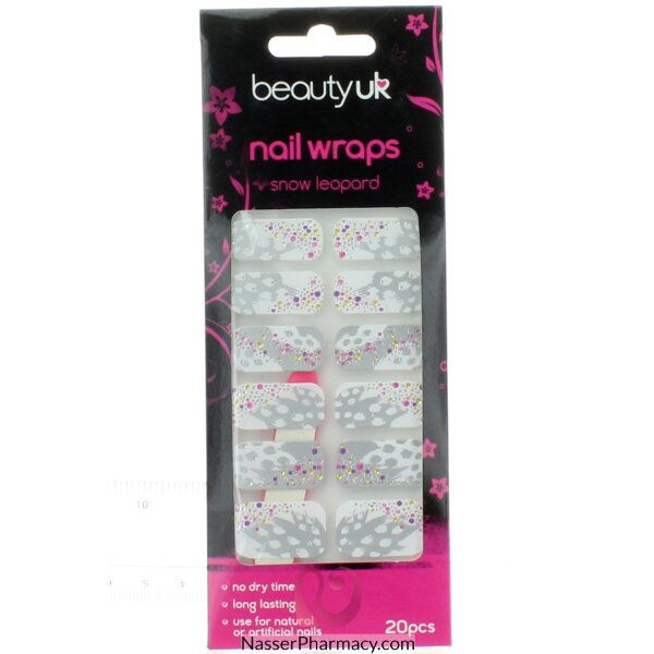 Beauty Uk Nail Wraps Snow Leopard - 20s