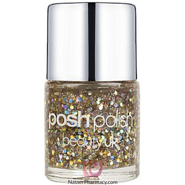 Beauty Uk Posh Nail Polish-antique Chic Glitter