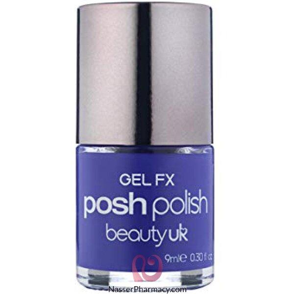 Beauty Uk Posh Nail Polish-gel Fx-blu Himalayan(blue)